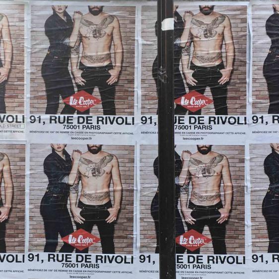 Affichage sur un mur pour Leecooper