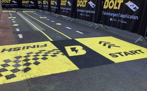 Piste de trottinette pour le lancement de Bolt
