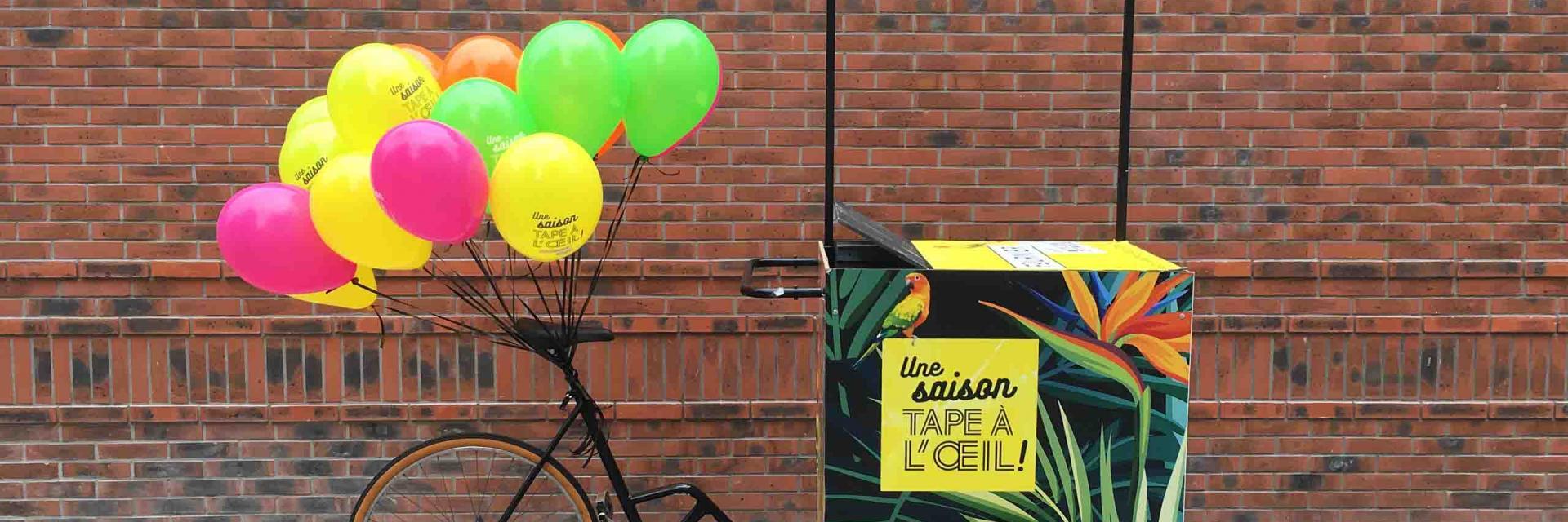 Ballon hélium pour un lancement de produit