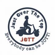 logo Jott pour une campagne de street-marketing à paris.