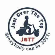 logo Jott pour une campagne de street-marketing à paris.