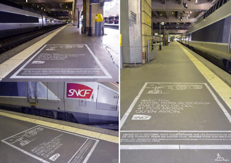 Photo clean-tag SNCF