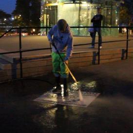 Clean-tag à Nantes pour Pascale Chiron