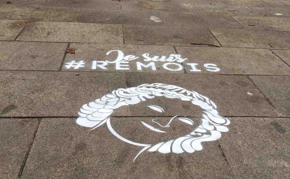 Marquage au sol Tempo-Tag: je suis #REMOIS