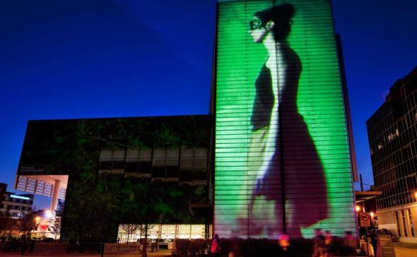 Vidéo-projection urbaine pour un évènement de street-marketing