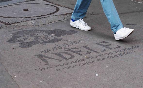Clean-Tag pour une opération de street marketing