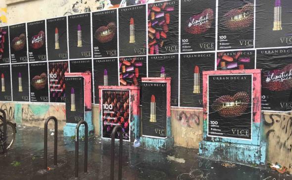 Street-Marketing Mode&accessoires Affichage rue