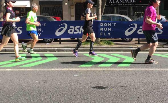 Marquage signalétique marathon de paris