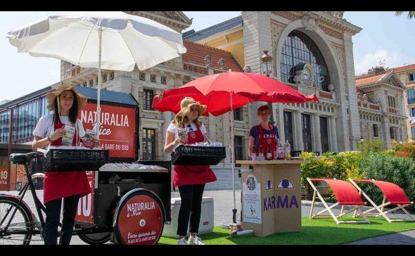 Opération de street-marketing pour Naturalia