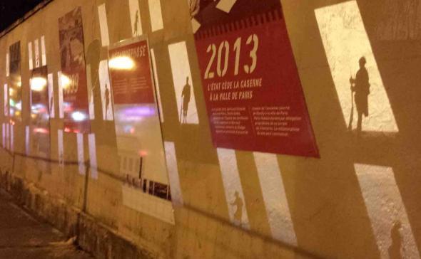 Pour Paris Habitat, 200 mètres de fresque murale retraçant l'histoire de la caserne de Reuilly