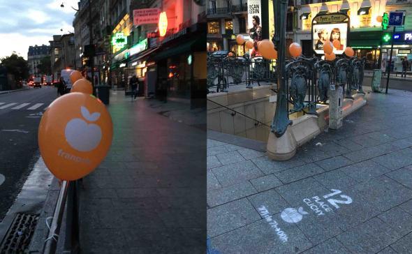 Street-marketing au ballon gonflé à l'hélium